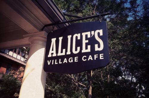 Alice's Village Cafe in Carp sign
