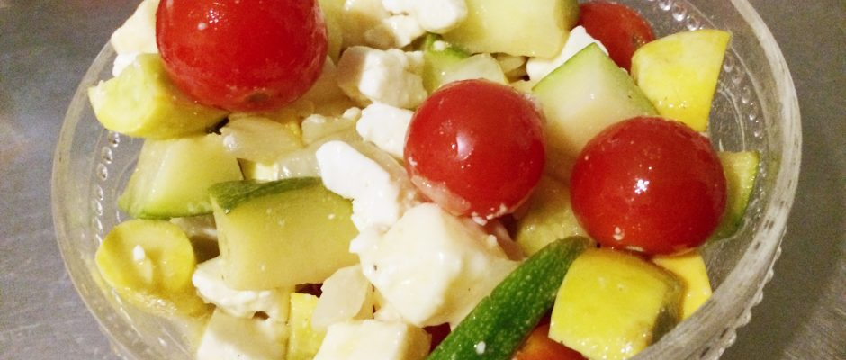 zucchini greek salad